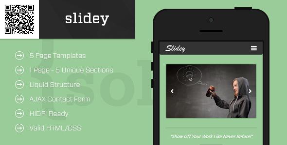 slidey | Mobile HTML/CSS Portfolio Template (Mobile) images