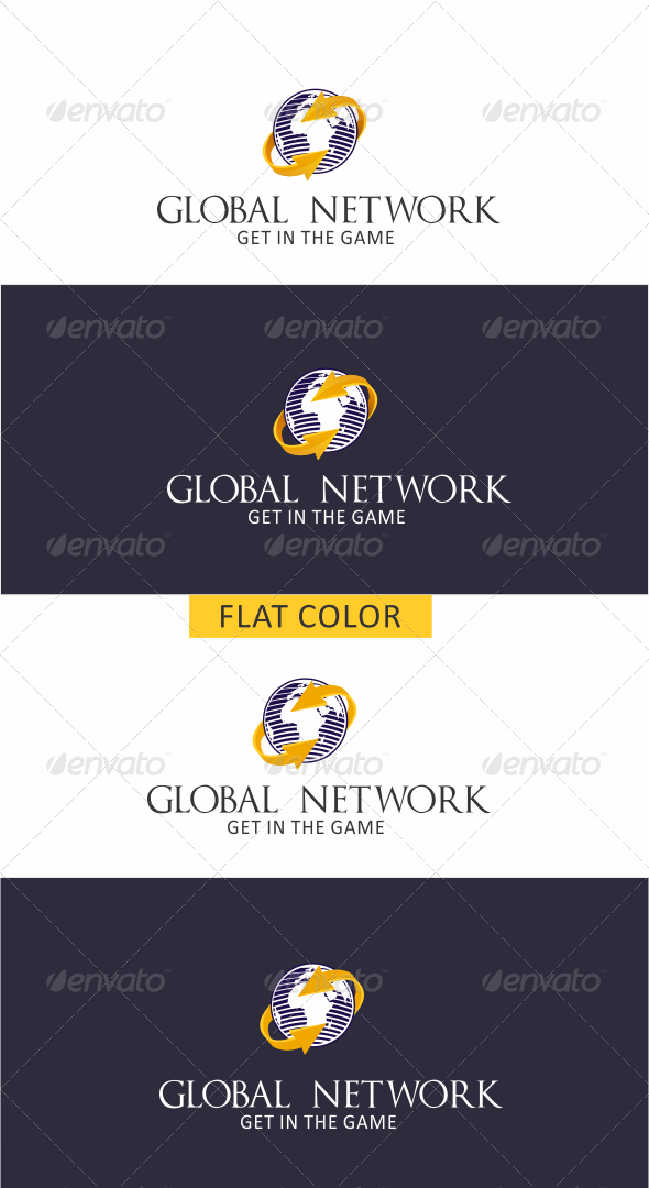 GraphicRiver GLobal Network II Logo 5788157