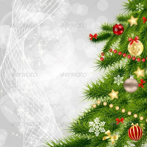 GraphicRiver Abstract Christmas and New Year Background 5804827