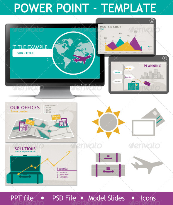 GraphicRiver Powerpoint Presentation Template Travel 5742263