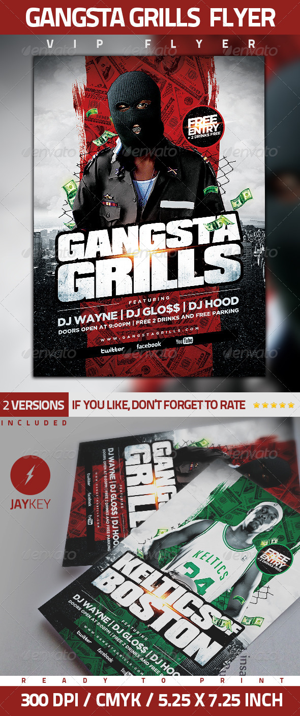 GraphicRiver Gangsta Grills Flyer 5804922