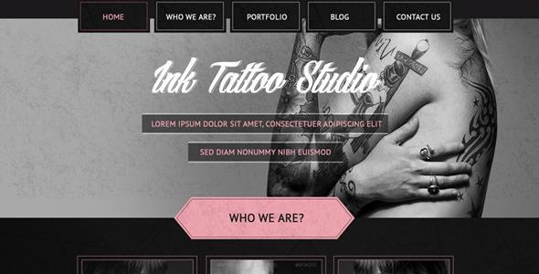 ThemeForest Tattoo Studio One Page Portfolio Template 5804927