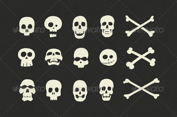 GraphicRiver Skulls and Crossbones Halloween Pack 5805123