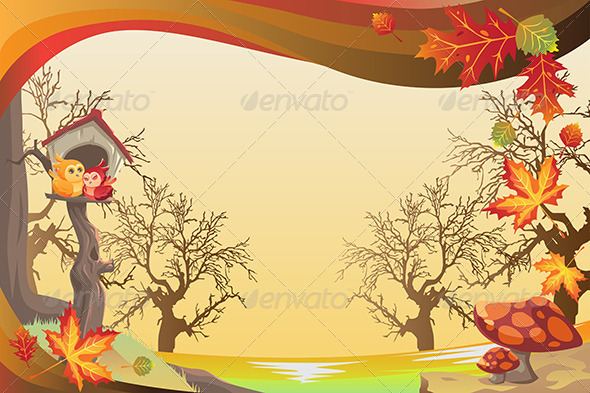 GraphicRiver Autumn or Fall Season Background 5805981