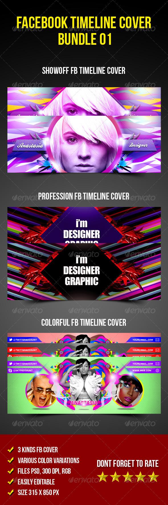 GraphicRiver Facebook Timeline Cover Bundle 01 5806058