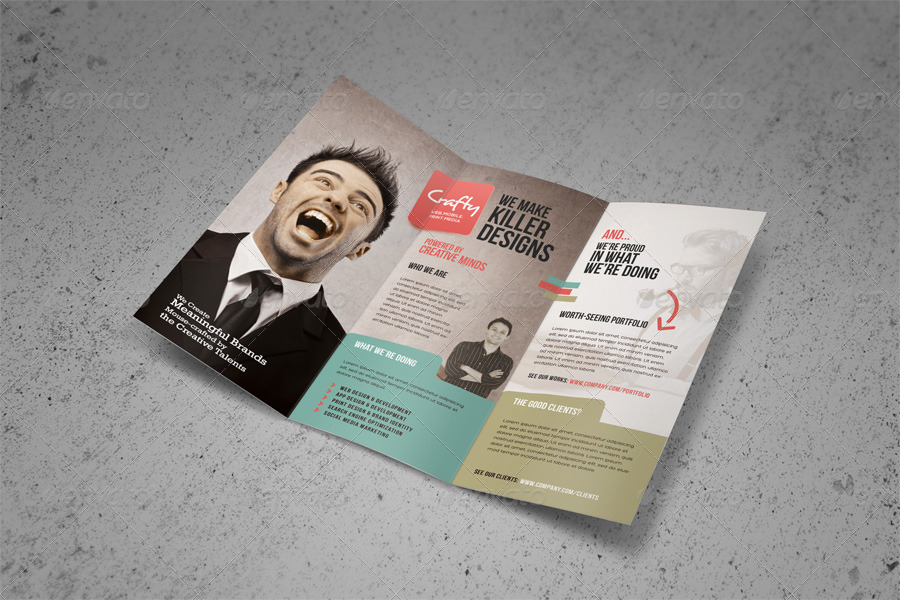 Creative design agency trifold brochure by kinzi21 for Ad agency brochure design