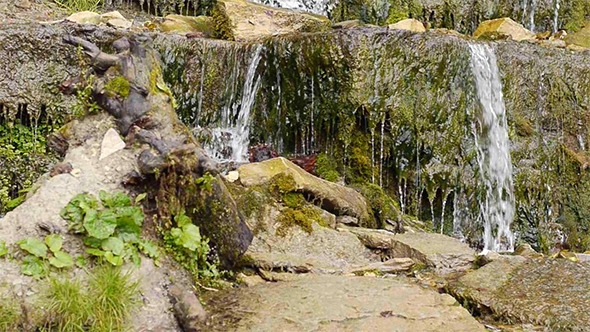 Small Waterfall In Autumnal Forest 3