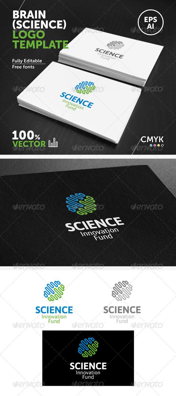 GraphicRiver Brain Science Logo Template 5807178
