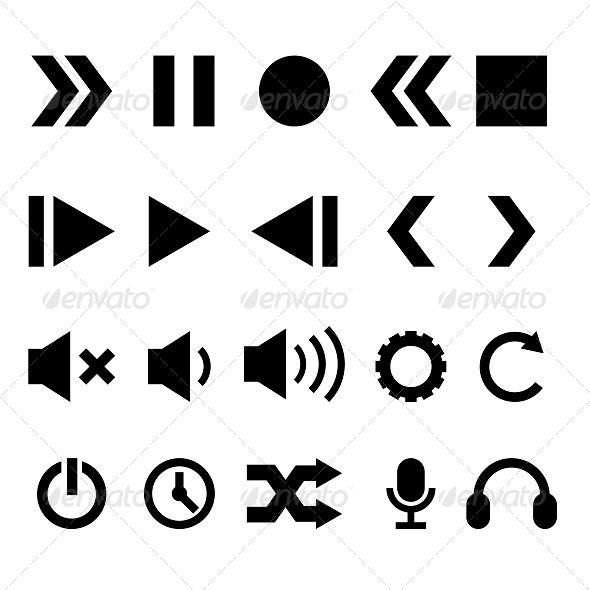 GraphicRiver Player Icons Set 5807211