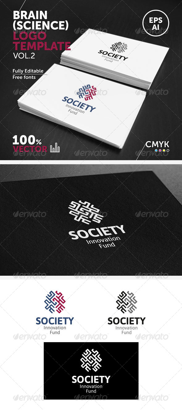 GraphicRiver Brain Science Logo Template 5807540