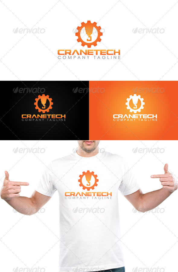 Crane Tech Logo Template
