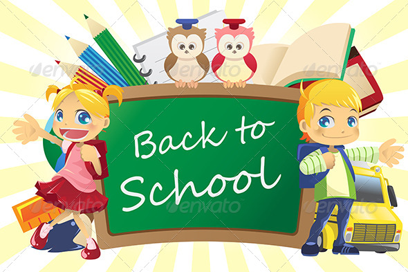 GraphicRiver Back to School Background 5807617