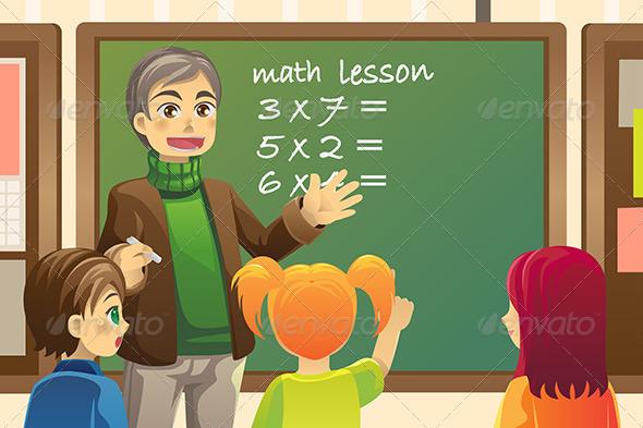 GraphicRiver Teacher in Classroom 5807696