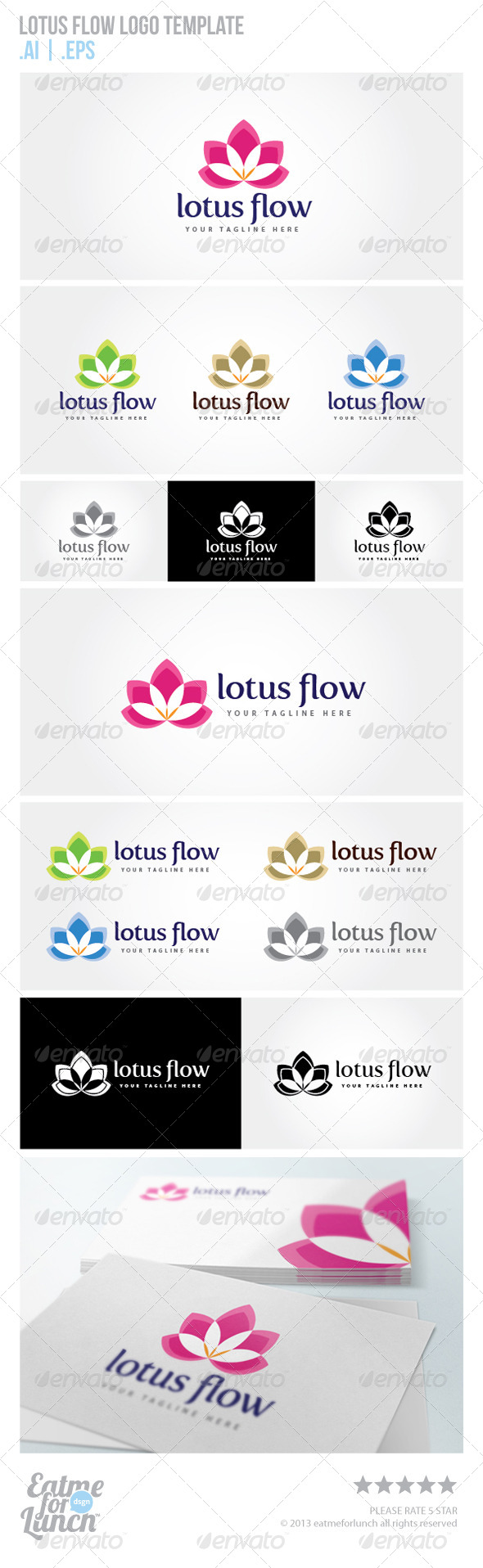 GraphicRiver Lotus Flow Logo Template 5789578