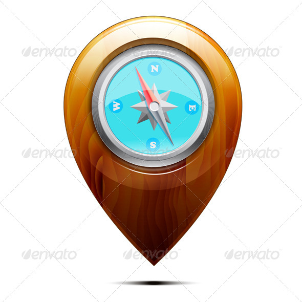 GraphicRiver Wooden Pointer with a Compass 5808047