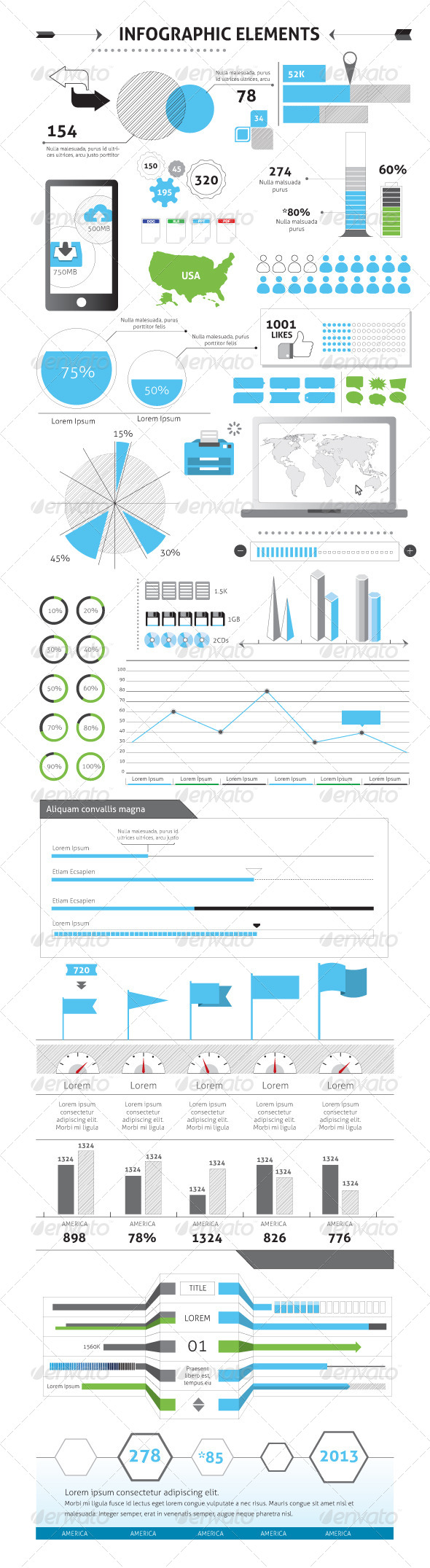 GraphicRiver Infographic Elements Vector File 5808104