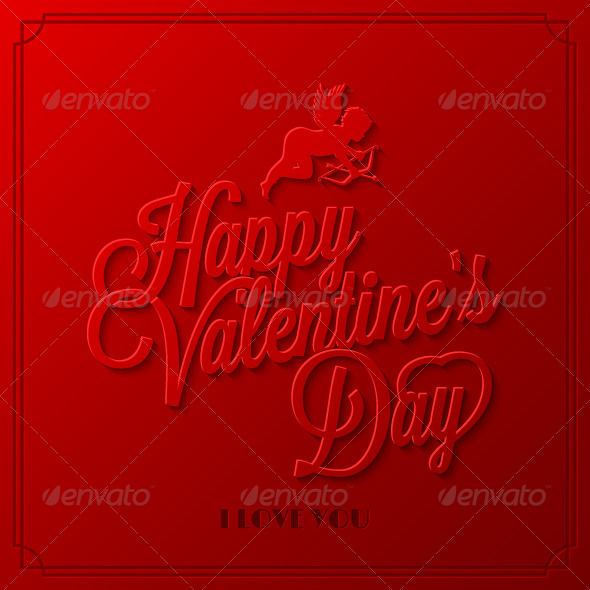 GraphicRiver Holiday Frame Happy Valentines Day 5808387