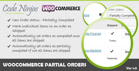 CodeCanyon Woocommerce Partial Orders 5808497