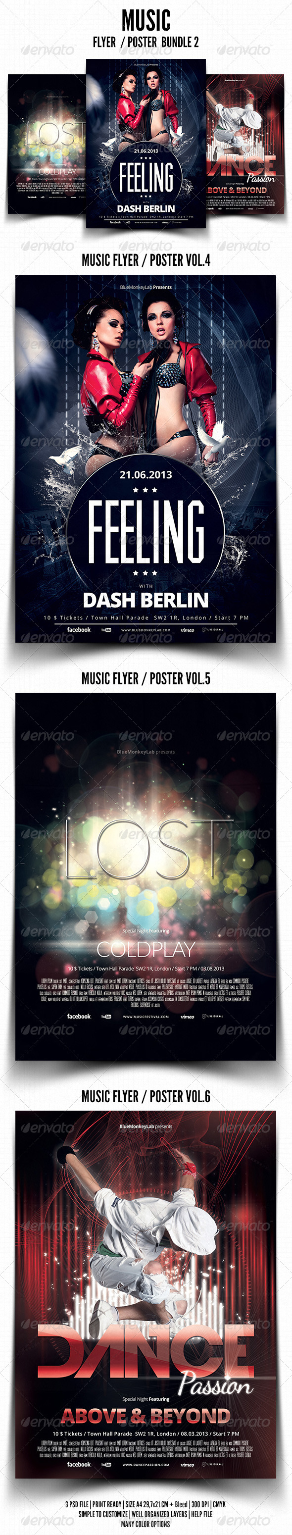 GraphicRiver Music Flyer Poster Bundle 2 5808994