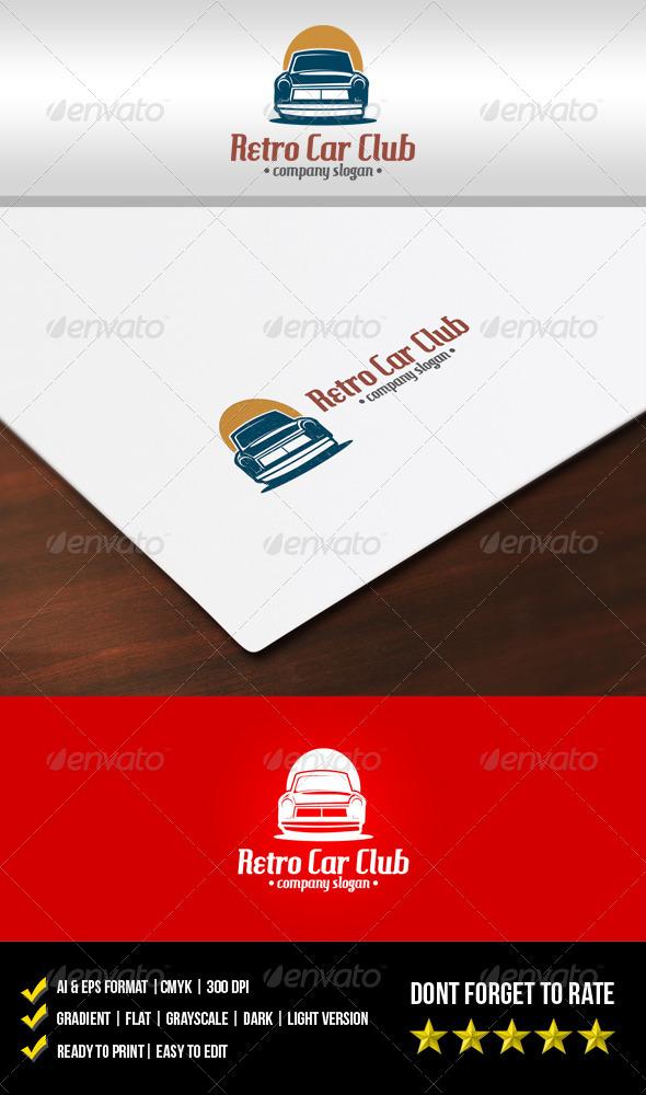 GraphicRiver Retro Car Club Logo 5809030