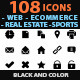 108 Icons - Web, Ecommerce, Real Estate, Sports... - GraphicRiver Item for Sale