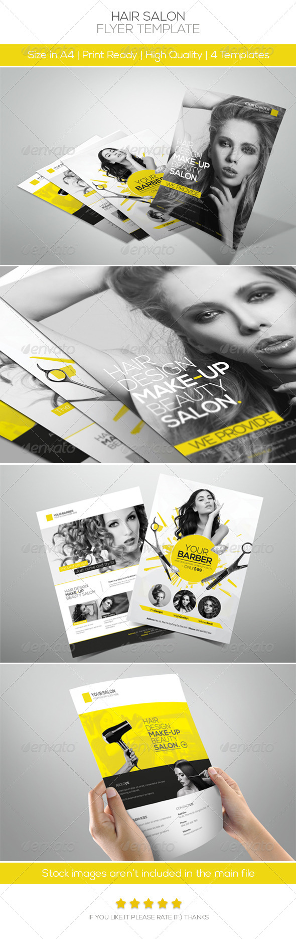 Premium Hair Salon Flyer - Commerce Flyers