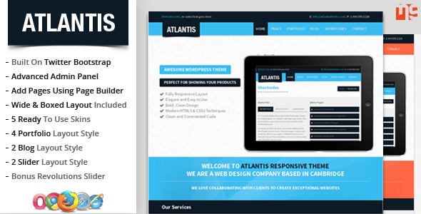 ThemeForest Atlantis Bootstrap Multipurpose WordPress Theme 5767950