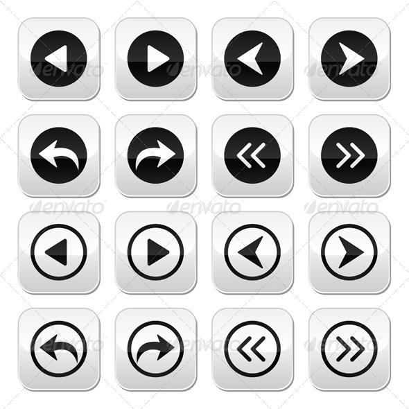 GraphicRiver Previous Next Arrows Vector Buttons Set 5810296