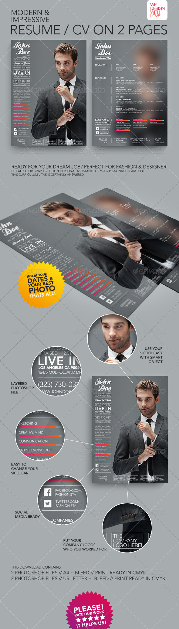 GraphicRiver Resume CV Fashion & Design 5810368