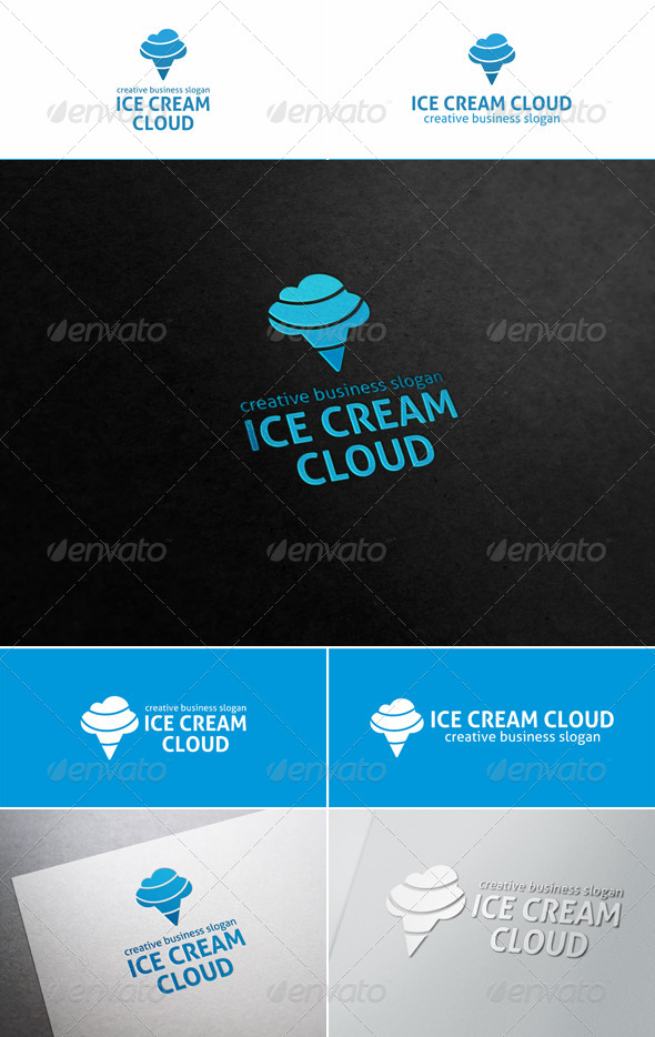 GraphicRiver Ice Cream Cloud Logo 5810392