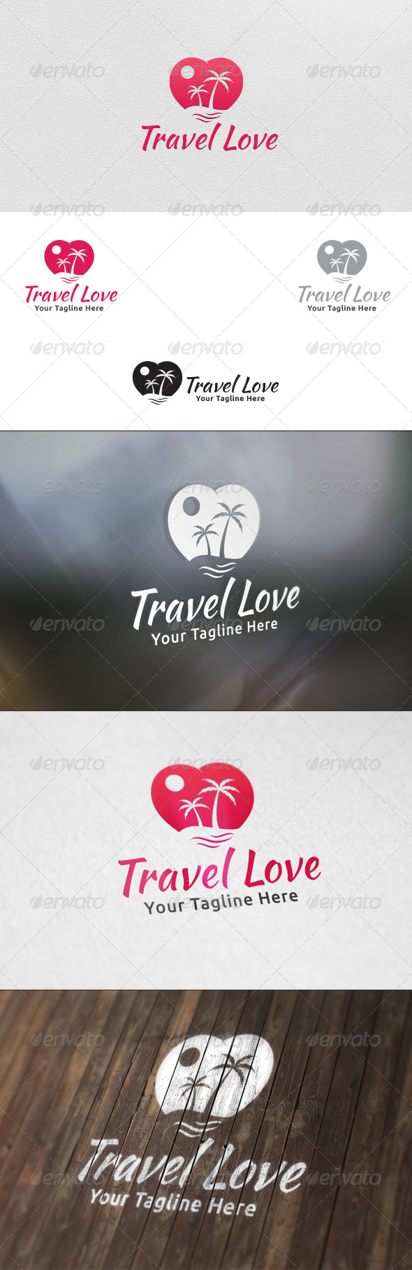 Travel Love Logo Template