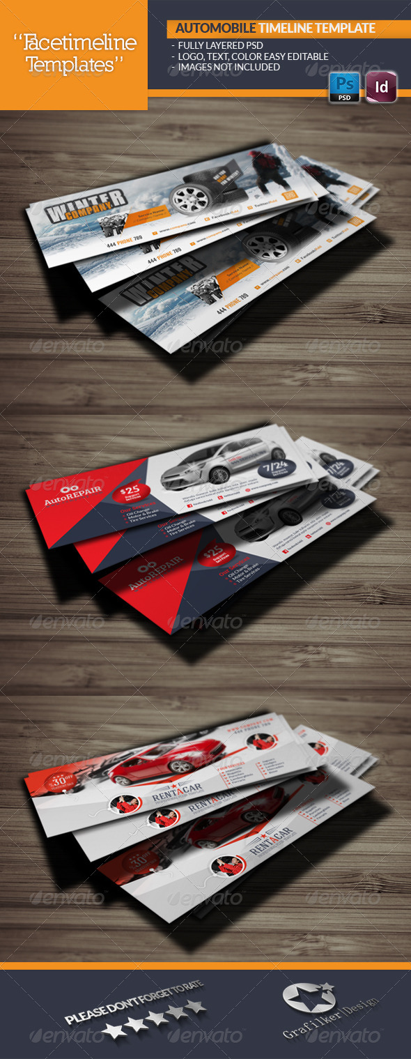 GraphicRiver Automobile Timeline Template 5810401