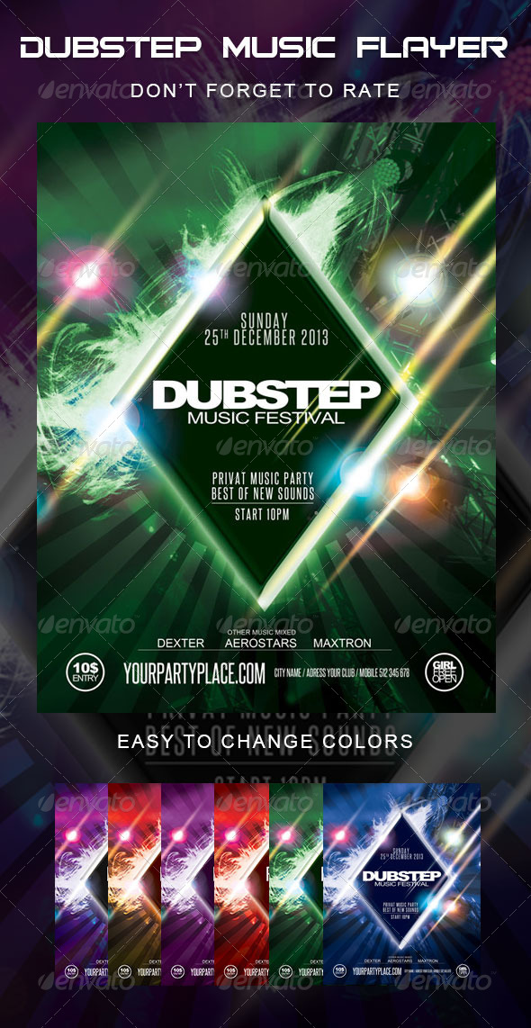 GraphicRiver Dubstep Music Festival Flyer 5674204