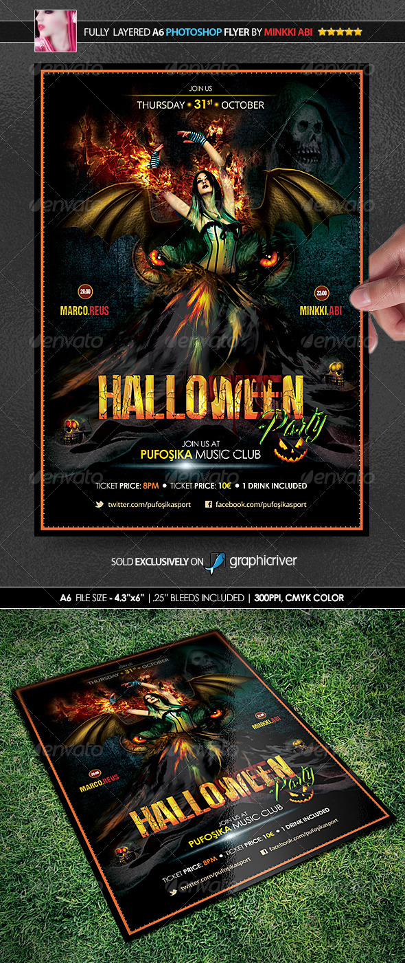 Halloween Poster/Flyer - Events Flyers