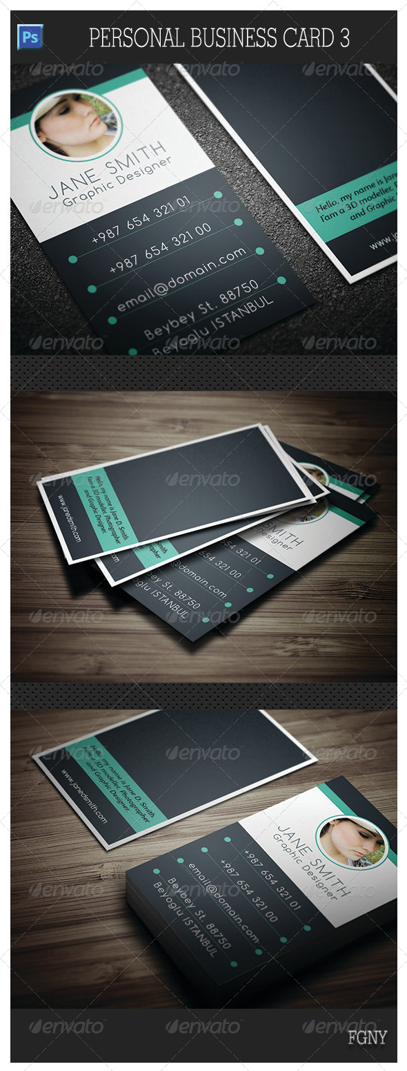 GraphicRiver Personal Business Card 3 5810411