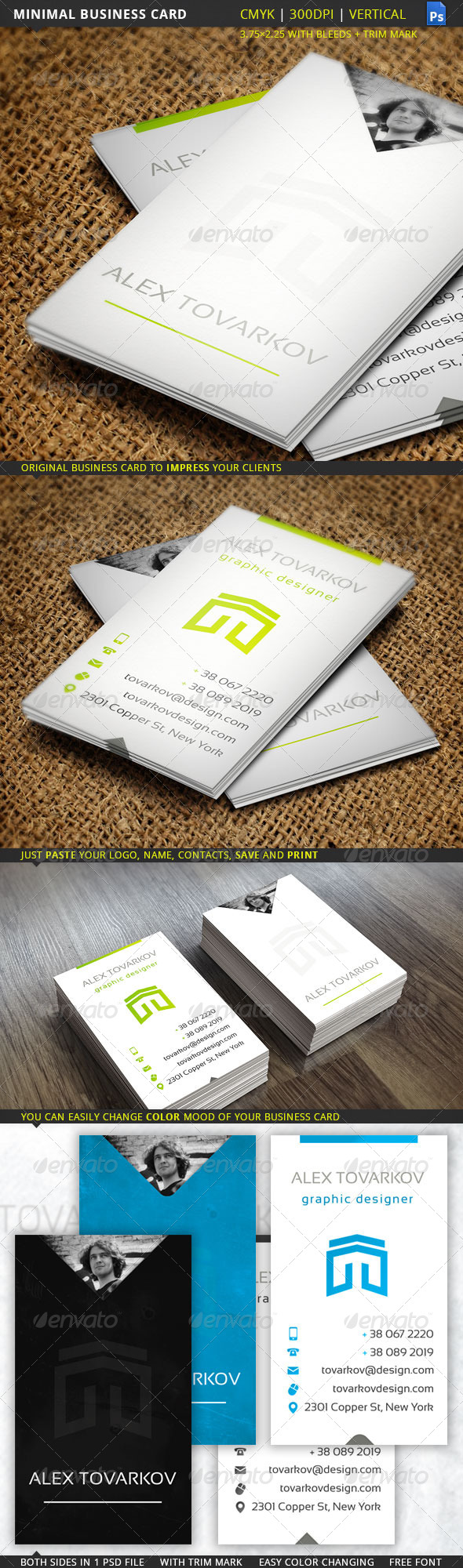 GraphicRiver Minimal Business Card 5811063