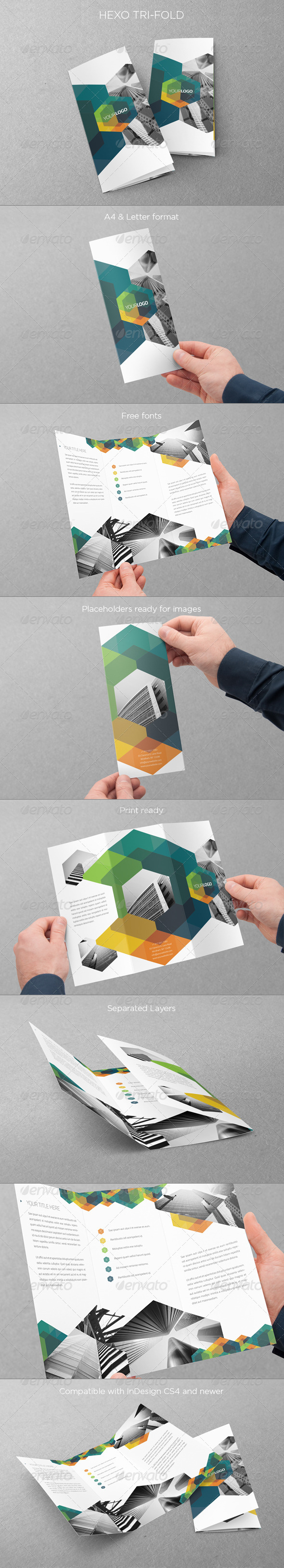 GraphicRiver Modern Hexo Trifold 5811088