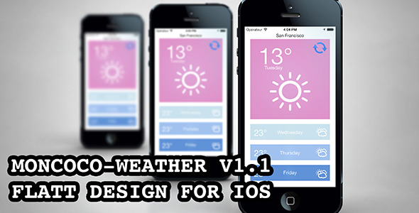 CodeCanyon Moncoco-Weather a beautiful weather app for iOS 5749051