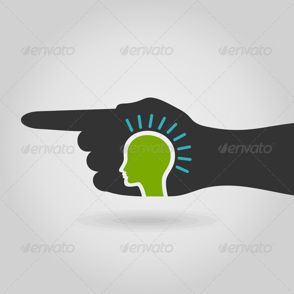 Head in hand - Stock Photo - Images