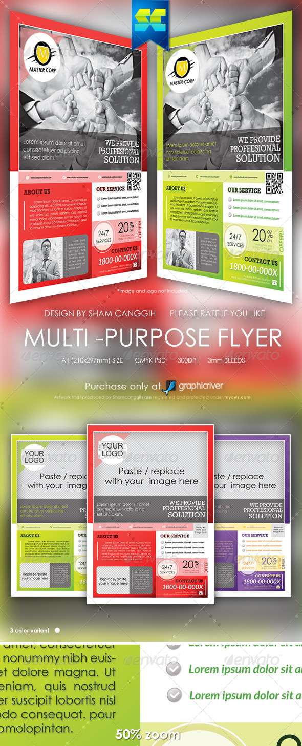 Clean Multi-Purpose Corporate Flyers - Corporate Flyers