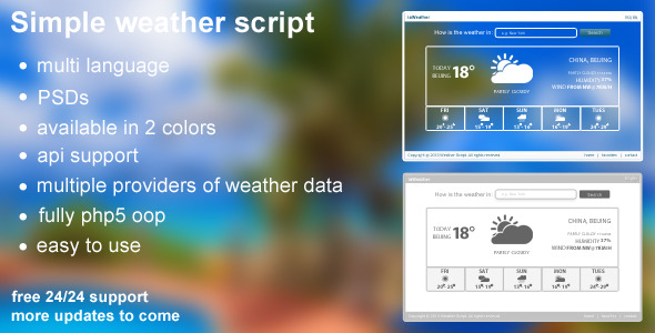 CodeCanyon Simple Weather System 5787138