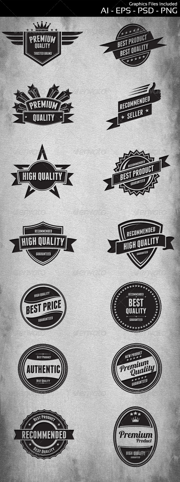 GraphicRiver Badges Design 5811619