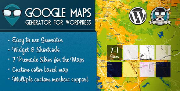 Create easily, awesome maps in WordPress with this plugin! How it works? The generator allows you to create / edit maps without the needing of any code, all vi