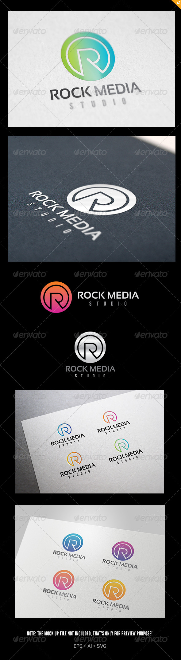 GraphicRiver Rock Media Logo 5812621