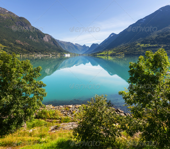 Lake in Norway - Stock Photo - Images