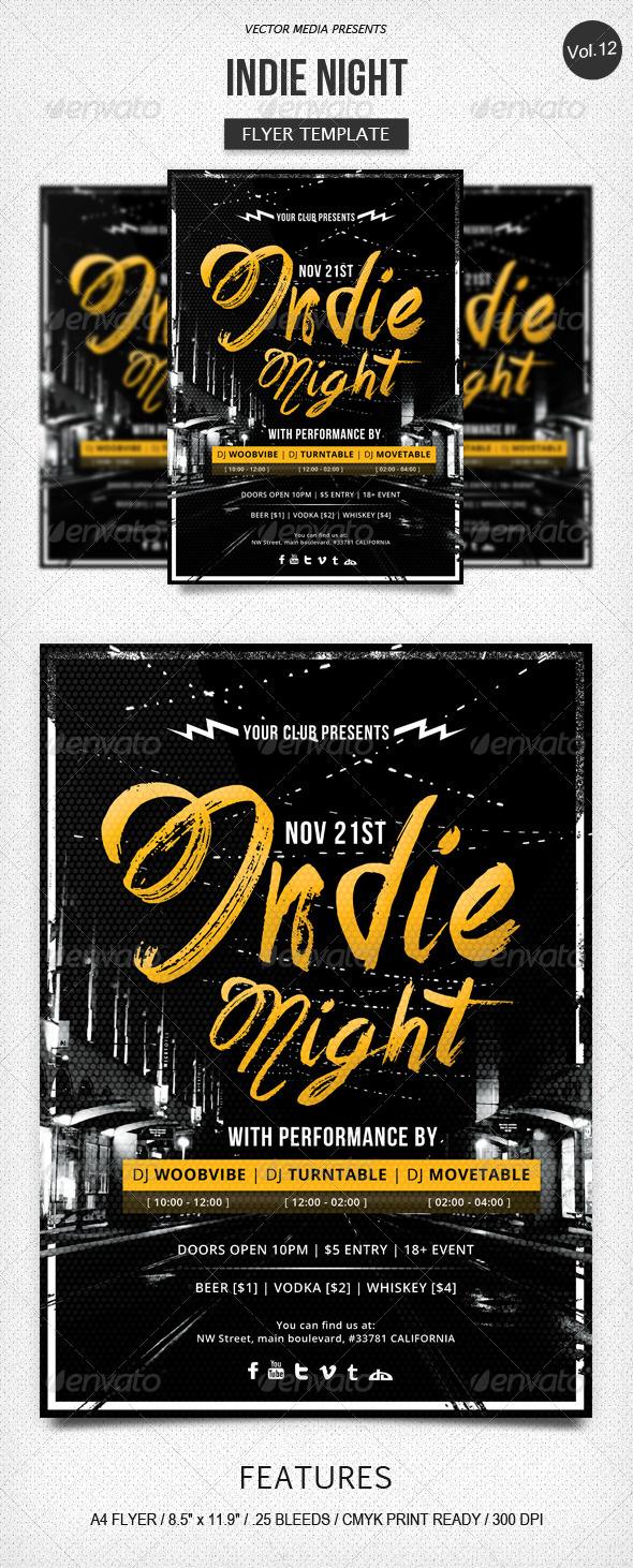 GraphicRiver Indie Night Flyer [Vol.12] 5812663