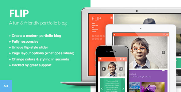 ThemeForest FLIP A Unique & Colorful WordPress Theme 5812729