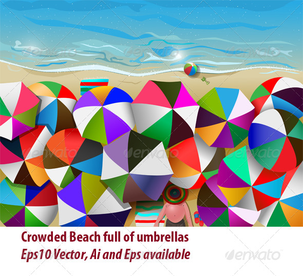 GraphicRiver Crowded Beach 5812741