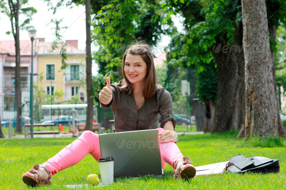 Successful Young Woman  - Stock Photo - Images