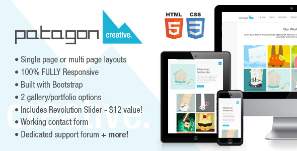 Patagon Creative - Single & Multi Page HTML5 Theme